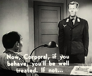 "Photo of interrogation of a german prisoner from the video ""Interrogation of Enemy Airmen 1943"""