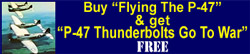 "Buy ""Flying yhe P-47"" DVD and get ""P-47 Thunderbolts Go to War"" DVD Free"