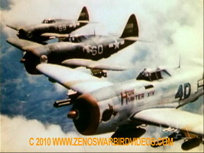 P 47 Thunderbolts From The 65th Fighter Squadron High Over Italy During World War 2